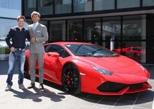 Casey Stoner visita la Lamborghini