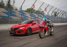 Nuova Honda Civic Type R + CBR 1000RR SP 2017 [Video Test in pista]