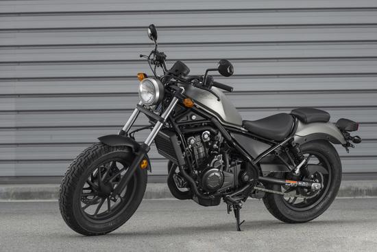 La CMX 500 è disponibile in argento opaco oppure in nero