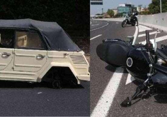 Morto 39enne a seguito dell'impatto con una ruota persa da un'auto d'epoca