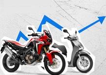 Mercato in agosto positivo per moto (+34%) e scooter. Le Top 100