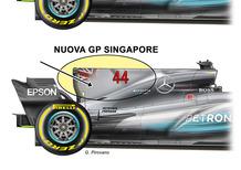 F1, GP Singapore 2017: Ferrari e Mercedes, le novità tecniche