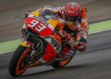 MotoGP 2017. Marquez chiude al comando le FP1 (bagnate) ad Aragon