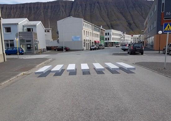 Idea sicurezza: strisce pedonali tridimensionali [Video]