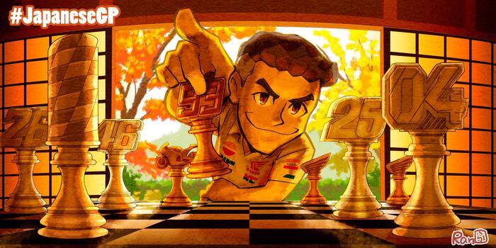 Dovizioso emerge alle libere di Motegi, Marquez cade