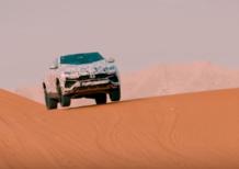 Lamborghini Urus, pronta per cavalcare le dune del deserto [Video]