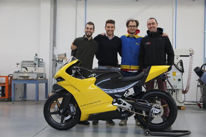 Il team Vins. Da sinistra Vincenzo Doino, Nicola Trentani, Vincenzo Mattia, Davide Perino. Assente purtroppo Giuseppe Evangelista...