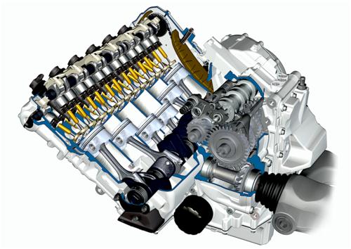 L'unica moto a sei cilindri in linea oggi in produzione è la BMW K 1600. Non si tratta di una sportiva ma di un modello destinato prevalentemente al granturismo veloce. L'architettura e il frazionamento del motore assicurano una eccezionale rotondità di funzionamento. I progettisti si sono impegnati a fondo per contenere l'ingombro trasversale