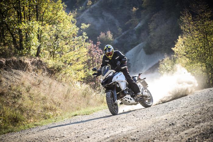 La Ducati è stabile e precisa anche alle alte velocità