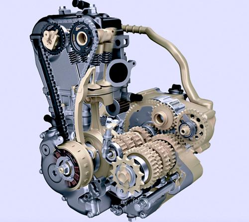Nei motori da cross l'esigenza di avere un motore leggero e dall'ingombro contenuto è estremamente sentita. I progettisti sono perciò costretti ad impiegare bielle con una lunghezza molto ridotta, il che non è desiderabile, in un'ottica motoristica