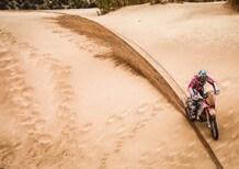 Dakar 2018. Peterhansel (Peugeot) e Meo (KTM) prima del Break