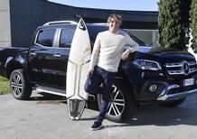 Una Mercedes Classe X per Leonardo Fioravanti, l'italiano stella del surf