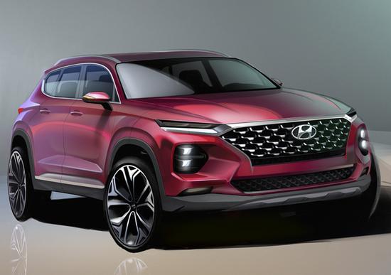 Hyundai Santa Fe 2018: ecco i rendering