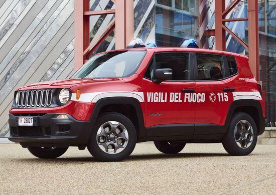 Jeep: la Renegade ai vigili del fuoco