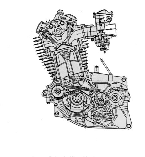 La Honda è entrata nel settore dei grossi mono con questo motore di 500 cm3 dotato di due alberi ausiliari azionati da una catena e rotanti in senso opposto a quello dell'albero a gomito. La distribuzione era monoalbero a quattro valvole