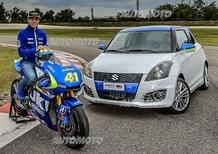 Suzuki Swift Sport GSX-RR Tribute, aria di MotoGP