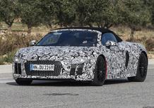 Nuova Audi R8 spyder: arriverà il prossimo anno