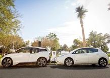 """Nissan e BMW: 120 stazioni di ricarica """"elettrica"""" negli Usa"""