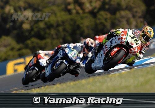 Rossi precede Melandri e Pedrosa