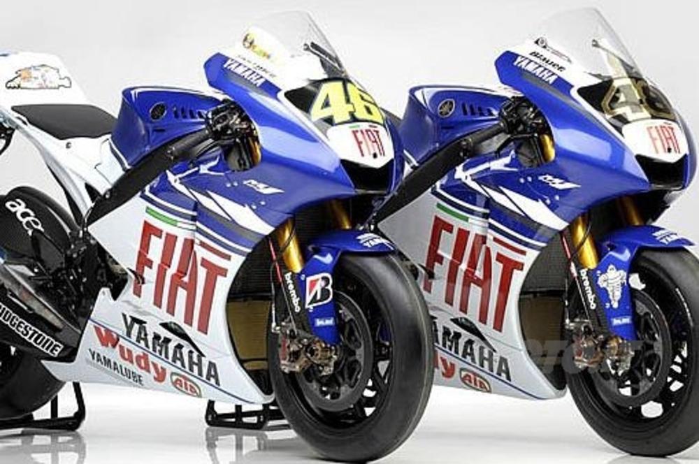 Yamaha M1 di Rossi e Lorenzo