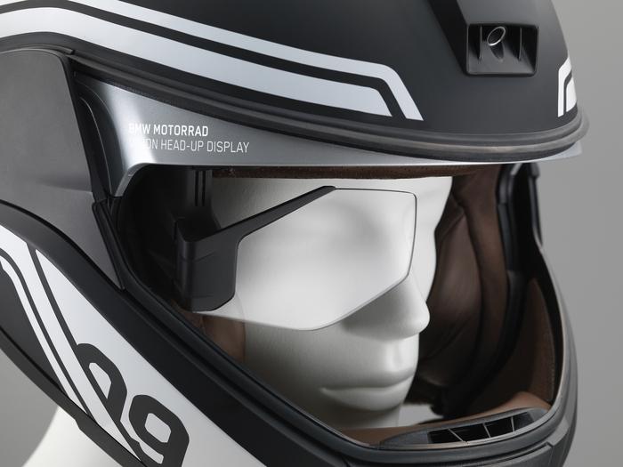 Il display HUD sul lato destro del casco