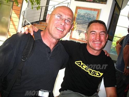 Da sx Piero Batini, giornalista e grande conoscitore del mondo dei Rally, e Giovanni Sala