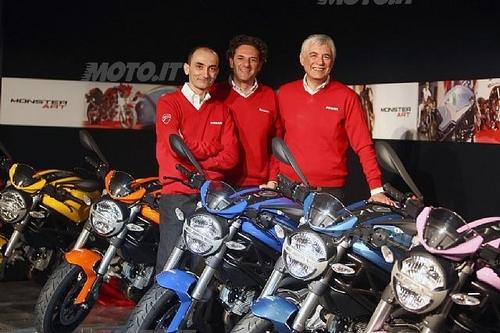 Da sinistra: Claudio Domenicali, Diego Sgorbati e Gabriele Del Torchio