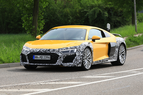 Audi R8 restyling, le foto spia (6)