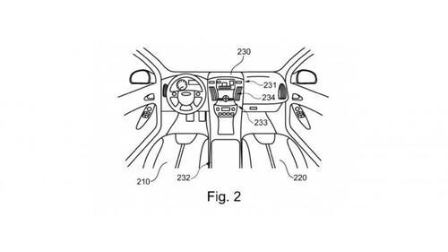 Ford brevetta l'auto che ospita uno scooter al proprio interno (2)
