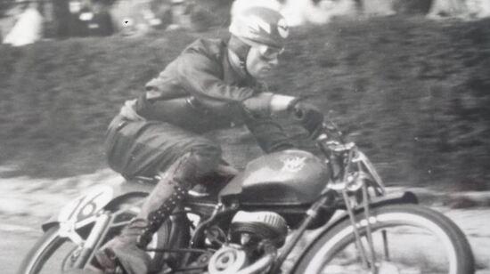 Finale Emilia 1950, con la MV 125 a due tempi