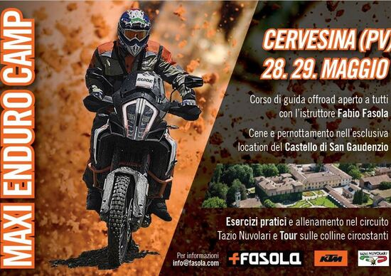 Maxi Enduro Camp: corso off road in sella alle KTM con Fasola