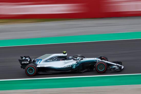 Il secondo posto di Bottas nel GP di Spagna completa la doppietta Mercedes
