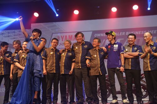 Valentino Rossi in tour in Indonesia