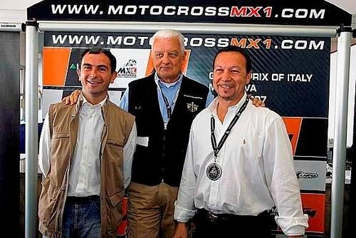 Il dott. Gianluca Frattini, il presidente FMI Sesti e Danilo Boccadolce di DBO