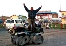 Danilo Carnevali in sella ad un KL Kawasaki KVF650 4x4 è arrivato alla meta, Ulan Bator capitale del
