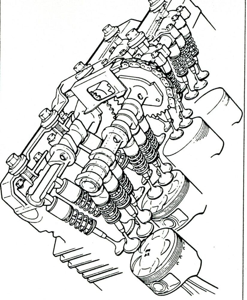 Grande sostenitrice delle cinque valvole per cilindro è stata per lungo tempo la Yamaha, che ha lanciato questa soluzione nel 1984 quando ha presentato la FZ 750