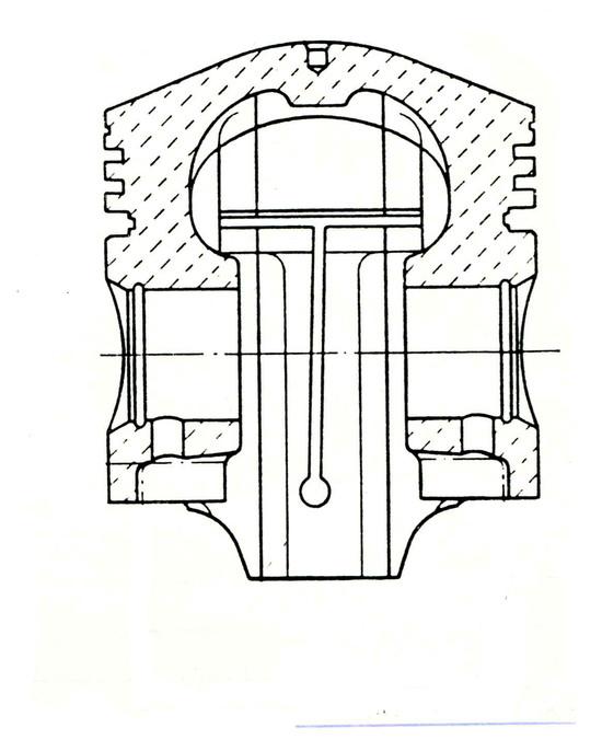 """Una soluzione che ha avuto una apprezzabile utilizzazione in passato prevedeva la realizzazione di un """"intaglio termico"""" nel mantello del pistone"""