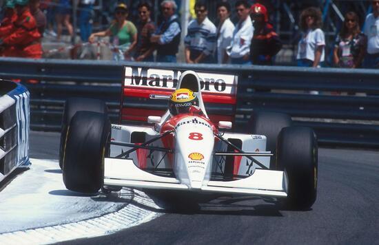 Ayrton Senna a Monaco nel 1993