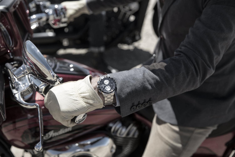 Baume & Mercier e Indian Motorcycle, una giornata in circuito a Vairano per celebrare la partnership