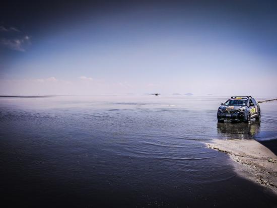 La suggestiva vista del Salar de Uyuni