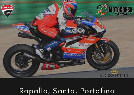 Federico Sandi con la Ducati SuperStock da Rapallo a Portofino