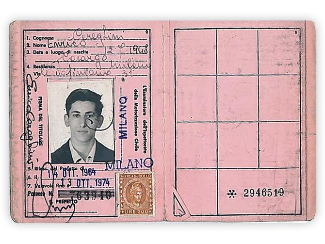Patente A del 1964: un giovanissimo Nico Cereghini, una delle pochissime foto che lo ritraggono senza barba