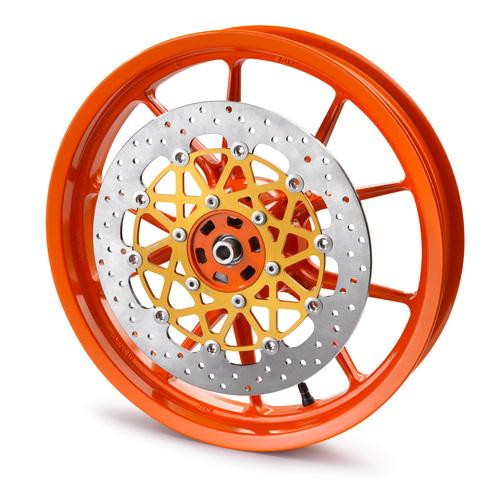 Il cerchio con disco freno a spessore maggiorato