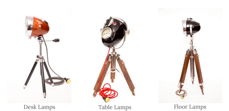 The Modern Weld: lampade d'arredamento create con fari vintage