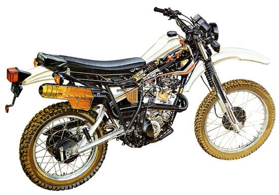 La Yamaha XT 550 del 1982 con la prima sospensione Monocross