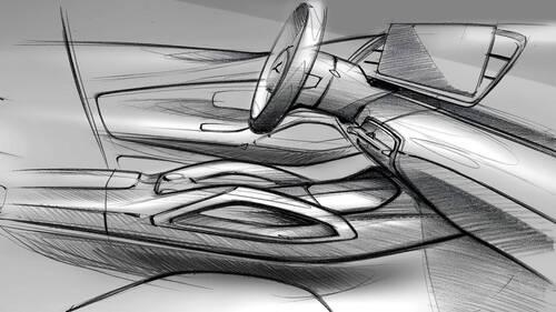 Nuova Mercedes GLE, i bozzetti degli interni (2)