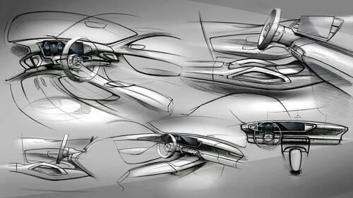 Nuova Mercedes GLE, i bozzetti degli interni (4)