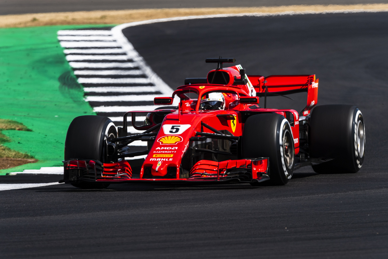 F1 GP Silverstone 2018 FP2 Vettel al top