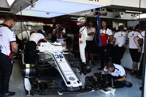 F1, GP Germania 2018, FP3: Leclerc al top sotto la pioggia (8)