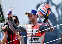 """MotoGP 2018. Dovizioso: """"Ho usato troppo il grip con Lorenzo"""""""